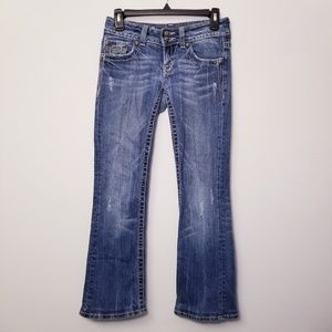 Miss Me size 25 Bootcut Blue Sparkly Jeans